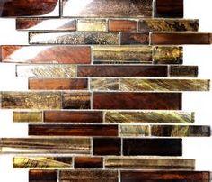 Copper Leaf Glass Tile - Bing images
