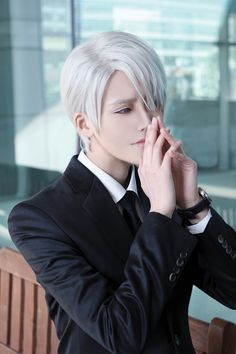 KOU (KOU) as Victor Nikiforov  of Yuri!!! on ice