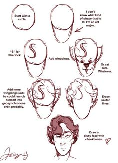 how to draw sherlock's hair - Google Search
