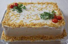 Bolo Salgado de Pão de Forma com Recheio de Frango - Na Biroskinha