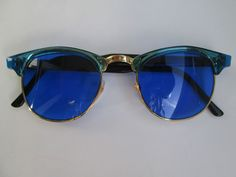 Retro Sunglasses Wayfarer Style Blue Glasses Vintage 50s 60s 50 60 Fifties New