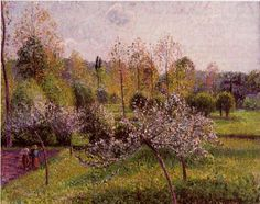 Camille Pissarro - Flowering Apple Trees, Eragny, 1895, oil on canvas