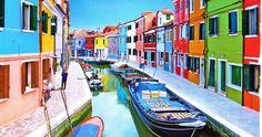 Ilha de Burano em Veneza #viajar #viagem #itália #italy