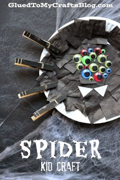 Halloween Spider ~ Paper Plate craft for kids