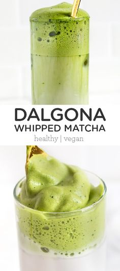 This whipped matcha recipe is a coffee-free twist on the popular Dalgona Korean coffee craze. This healthy, homemade whipped matcha recipe is perfect for non-coffee drinkers and easy to make. Made with coconut sugar and non-dairy almond milk. Bon Dessert, Dessert Recipes, Desserts, Drink Recipes, Yummy Drinks, Healthy Drinks, Korean Coffee, Latte, Coffee Uses