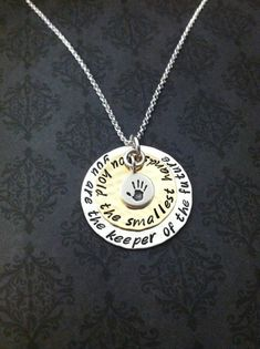 Hand stamped Jewelry - Personalized Necklace- Teacher necklace - Daycare Provider necklace - Nanny Gift