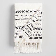 Jun 28, 2020 - Ivory And Black Geo Striped Zohra Hand Towel #bohobathroom #bohokitchen #geotowel #handtowel #bohotowel #blackwhitetowel Sponsored Afflink