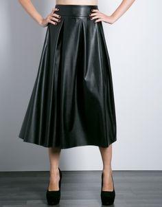 Φούστα midi leather look