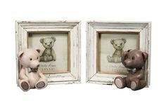 Porta Livro e Porta Retrato Urso Vintage