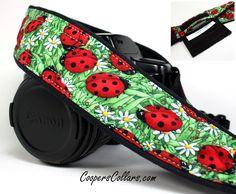 Pocket dSLR Camera Strap, Ladybug, Red, Green,SLR.