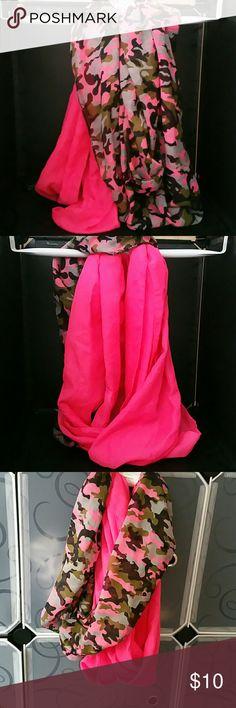 Pink Camo Scarf set New never worn x2 scarves,  one pink other pink camo.  Scarf set. Accessories Scarves & Wraps