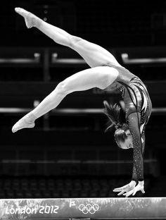 Lauren Mitchell (Australia) on balance beam at the 2012 London Olympics