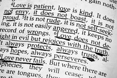 #Love is all kinds of things including unselfish, not rude, kind, not envious, nor boasful, nor proud; it always rejoices in truth and not evil, it perseveres, neve fails, etc. However, it's NOT a doormat! #love