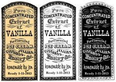 Printable Vanilla Labels