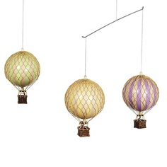 Flying The Skies Hot Air Balloon Mobile In Pastel : Mobiles at PoshTots