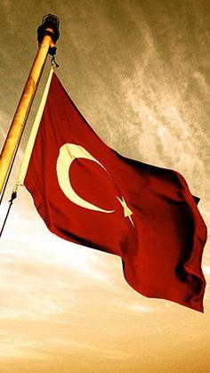 The flag of Turkey. Galaxy Wallpaper, Cool Wallpaper, Turkey Flag, Turkish Army, Turkish Military, Visit Turkey, Sports Day, Beautiful Hijab, Ottoman Empire
