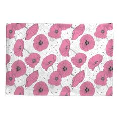 Poppy Flowers Pattern pillowcases - home gifts ideas decor special unique custom individual customized individualized