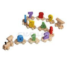 Digital-Number-Wooden-Train-Railway-Kids-Wood-Mini-Toy-Figures-Educational ****************************************   eBay: רכבת המספרים מעץ מ-18 ₪ + משלוח חינם! לימודי ומהנה