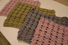 ME made: Nopeat tiskirätit + ohje / Fast dishcloths + pattern Doilies, Diy Gifts, Knit Crochet, Crochet Patterns, Blanket, Knitting, Crafts, Coasters, Manualidades