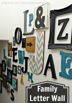 Updated Family Letter Wall - perfect way to represent every member of your family in your home.