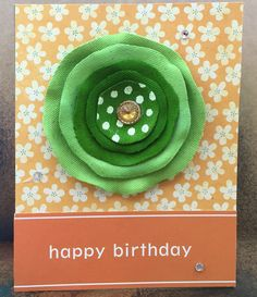 Happy Birthday Greeting Card by TheCardandQuiltCo on Etsy