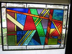 """Side Show"" Stained Glass Window Panel"