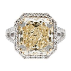 7.72cts. Fancy Yellow Diamond Gold Ring  Contemporary....another great example of a single girl ring!