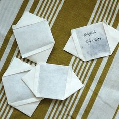 cool seed envelopes from sandwich paper