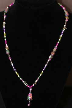 Spring Garden Necklace Pink. SOLD