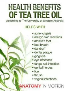 Tea tree oil. Use with caution. Strong stuff. I love to use in my face and its excellent for dandruff. However if you have color treated hair it can fade your color. I find it to be amazing for my oily acne prone face.