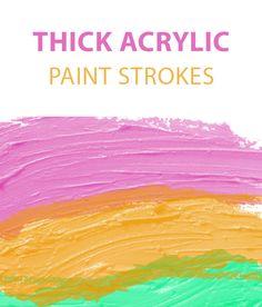 Thick paint acrylic free #Photoshop brush set