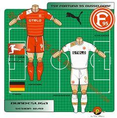 Fortuna Düsseldorf of Germany kits for Germany Kit, Football Kits, Saudi Arabia, Shirts, Club, Logos, Note Cards, Soccer Kits, Soccer Equipment