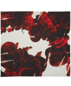 Red rose print silk scarf by @Athena Procopiou  at Liberty: http://www.liberty.co.uk/fcp/categorylist/designer/athena-procopiou