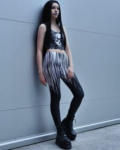 Normal is just an illusion. Conjured for comfort with silky soft threads, pair up the wicked Buried Crop Top and the Illusion Leggings to weird out your street style. Nu Goth Fashion, Goth Girls, Weird, Cute Outfits, Street Style, Leggings, Crop Tops, Clothes For Women, Clothing