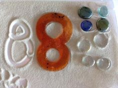"""Representing 8 in print & with objects - from Mrs. Chapman's (ChapmanKs on Twitter) ("""",)"""