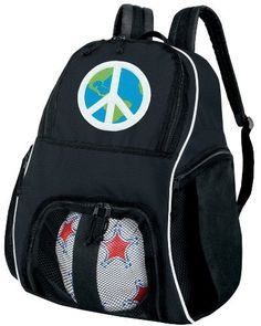 World Peace Sign Ball Backpack Peace Signs Soccer Ball Bag Basketball  Backpacks by Broad Bay. f51199abdee79