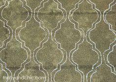 stencilled rug