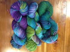 Belize Colorway - 2 ply merino sock yarn - 400 yds March 2015