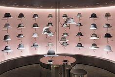 View full picture gallery of Seibu Shibuya Boutique Cuir, Nendo Design, Design Design, Hat Display, Hat Stores, Tokyo Hotels, Retail Merchandising, Pink Walls, Retail Shop