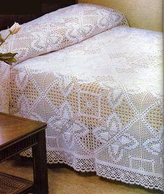 Crochet Bedspread, Diy Crafts Hacks, Manta Crochet, Bed Spreads, Quilts, Blanket, Tablecloths, Coasters, Crochet Doilies