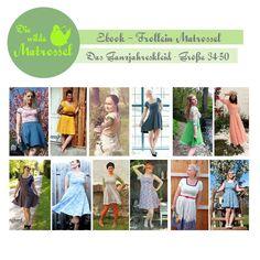 Nähanleitungen Mode - Ebook Frollein Matrossel-Ganzjahreskleid-34-50 - ein Designerstück von die-wilde-matrossel bei DaWanda