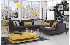 PANDA KÖŞE KOLTUK TAKIMI Living Room Grey, Interior Design Living Room, Living Room Designs, Sitting Room Decor, Modern Contemporary Living Room, Home Room Design, Home Decor Furniture, Decoration, Minimalist Room