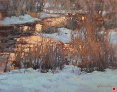 Twilight Glow by Barbara Jaenicke Oil ~ x Thing 1, Winter Painting, Twilight, Gallery, Artist, Outdoor, Artworks, Glow, Paintings