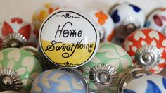 Charming Home SweetHome Transfer & Etched Ceramic Knobs