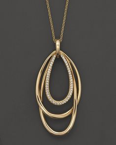 """Bloomingdale's Diamond Pendant Necklace in 14K Yellow Gold, .15 ct. t.w., 16"""" on shopstyle.com"""