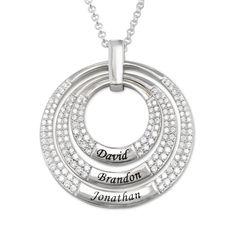 Mammasmykke | Familiesmykke | Mitt Navnesmykke Disc Necklace, Circle Necklace, Name Necklace, Washer Necklace, 18k Rose Gold, 18k Gold, Grave, Or Rose, Jewels