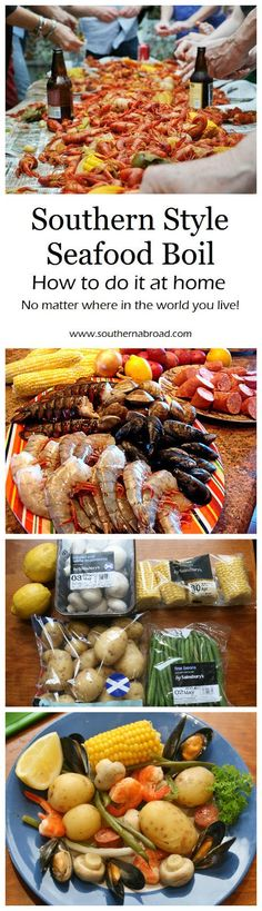 Southern Style Seafood Boil, crawfish boil, crab boil, crawfish recipe, seafood recipe, shrimp, mussels, party food (Shrimp Baking Potato)