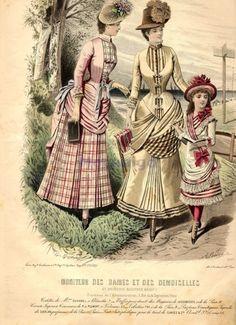 Walking dress, 1879 (probably mislabeled) France, Moniteur des Dames et des Demoiselles