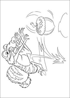 Ice Age color page cartoon characters coloring pages color plate
