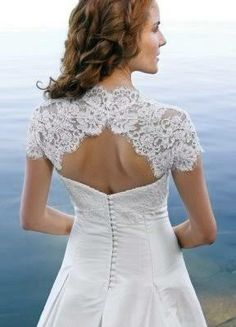 small keyhole back wedding dress - Google Search